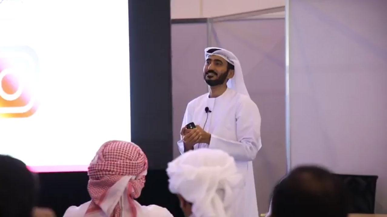 Training course for the advisor Hazza al mansouri at the exhibition